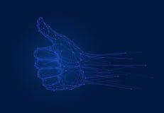 Mostrando ESTÁ BEM a vista, dedos que mostram o símbolo ilustração royalty free