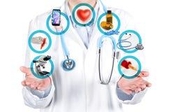 Mostrando exames médicos e procedimentos fotografia de stock royalty free