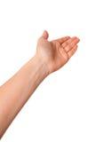 Mostrando a mão Foto de Stock Royalty Free