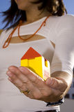 Mostrando minha casa nova 2 imagem de stock royalty free