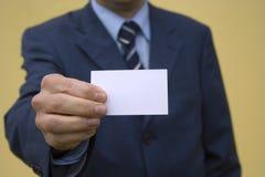 Mostrando o cartão 1 fotografia de stock royalty free
