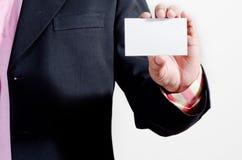 Mostrando o cartão de nome da empresa Imagem de Stock
