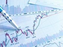 Mostrando o conceito do relatório comercial Fotografia de Stock Royalty Free