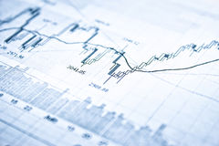 Mostrando o conceito do relatório comercial Foto de Stock