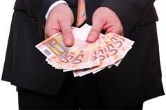 Mostrando o dinheiro fotografia de stock royalty free