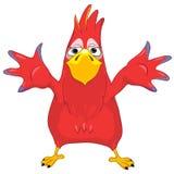 Mostrando o papagaio engraçado. Imagens de Stock