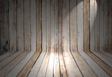 Mostrando a Sportlight la textura de madera del fondo Imagenes de archivo