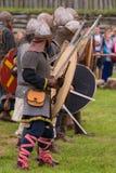 Mostrando um cavaleiro Fotografia de Stock Royalty Free