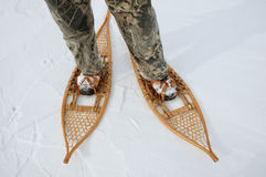 Mostrar apagado mis zapatos del invierno Imágenes de archivo libres de regalías