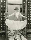 Mostrar apagado un nuevo vestido Foto de archivo libre de regalías