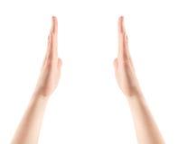 Mostrar as mãos isolou-se Imagens de Stock Royalty Free