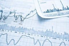 Mostrar concepto del informe de negocios Imagen de archivo libre de regalías