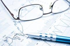 Mostrar concepto del informe de negocios Imagenes de archivo