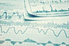 Mostrar el informe de negocios Imagen de archivo