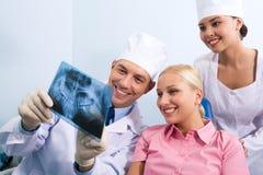 Mostrar fotografía de radiografía Foto de archivo