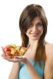 Mostrar la ensalada de fruta Foto de archivo libre de regalías