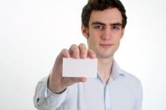 Mostrar la tarjeta de la identificación Imagen de archivo libre de regalías