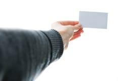Mostrar la tarjeta de visita imagenes de archivo