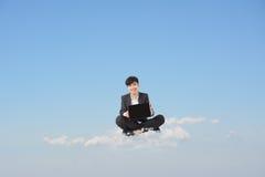Mostrar na nuvem Imagem de Stock