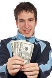 Mostrar un dinero del ventilador Imagen de archivo libre de regalías