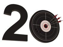20 mostras aniversário ou aniversários Imagens de Stock