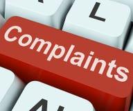 Mostras da chave das queixas que queixam-se ou que lamentam-se em linha Imagens de Stock