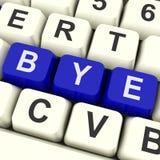 Mostras da chave do adeus que partem ou que saem Fotos de Stock