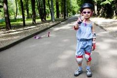 mostras da menina gosta do esporte Fotografia de Stock