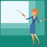 Mostras das mulheres de negócios da apresentação na tela Fotos de Stock