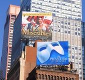 Mostras de Broadway da propaganda Fotografia de Stock Royalty Free