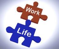 Mostras do enigma da vida do trabalho que equilibram o trabalho ilustração do vetor