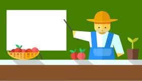 Mostras do fazendeiro a bordo ilustração stock