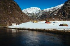 Mostraumen - Osterfjord, Norvegia Immagini Stock