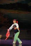 Mostre a ópera de Jiangxi do lenço da flor uma balança romana Foto de Stock