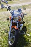 Mostre as motocicletas NARVABIKE no território da fortaleza do 18 de julho de 2010 em Narva, Estônia Fotografia de Stock
