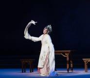 """Mostre ato da forma- original a terceiro o vinho-Kunqu amarelo masculino Opera""""Madame o  branco de Snake†Foto de Stock Royalty Free"""