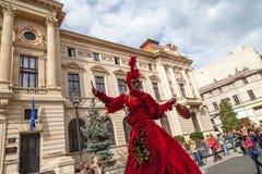Mostre B-FIT interno na rua Bucareste 2014 fotografia de stock