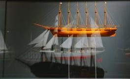 Mostre del museo marittimo del mondo nella città di Amburgo fotografia stock libera da diritti