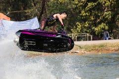 Mostre a estilo livre a ação do conluio do esqui do jato Foto de Stock