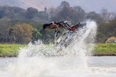 Mostre a estilo livre a ação do conluio do esqui do jato Fotografia de Stock Royalty Free