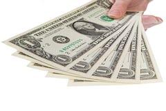 Mostre-me o dinheiro, 1 dólar fotografia de stock royalty free