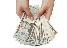 Mostre-me o dinheiro fotografia de stock