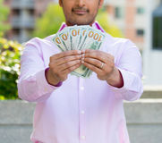 Mostre-me o dinheiro fotografia de stock royalty free