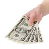 Mostre-me o dinheiro, 5 dólares imagem de stock royalty free
