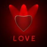 Mostre o coração Imagens de Stock Royalty Free