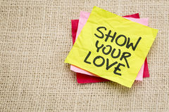 Mostre seu amor Fotos de Stock Royalty Free