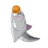 Mostri affascinanti che giocano pallacanestro royalty illustrazione gratis