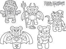 Mostri degli orsacchiotti messi dei disegni royalty illustrazione gratis