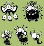 Mostri del fumetto, goblins, fantasmi Immagine Stock