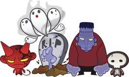 Mostri di Halloween Immagine Stock Libera da Diritti